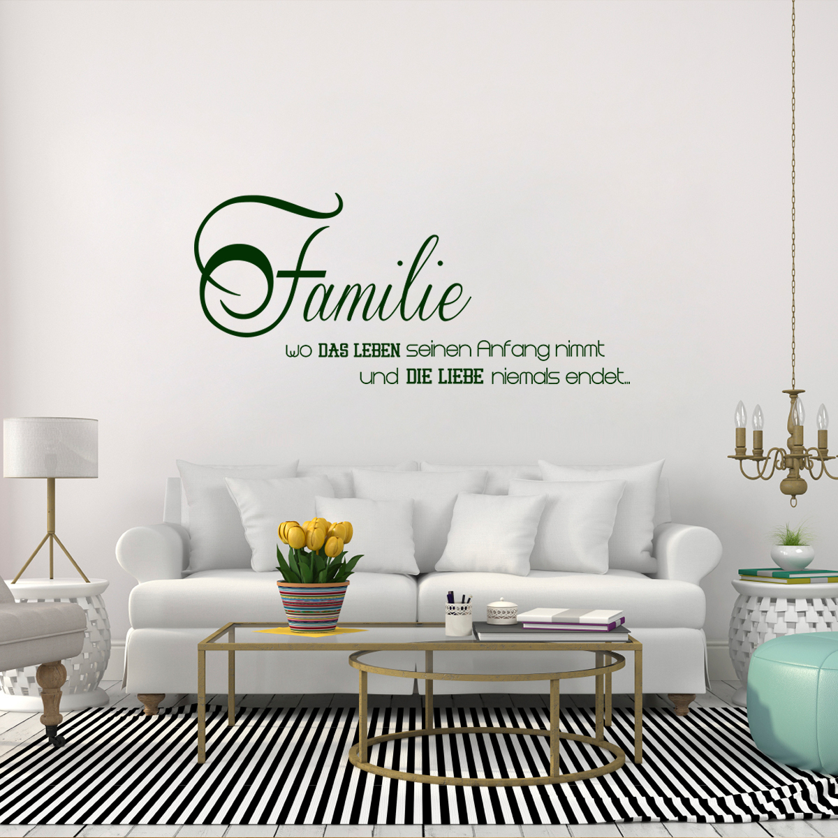 sticker citation familie stickers citations allemand. Black Bedroom Furniture Sets. Home Design Ideas