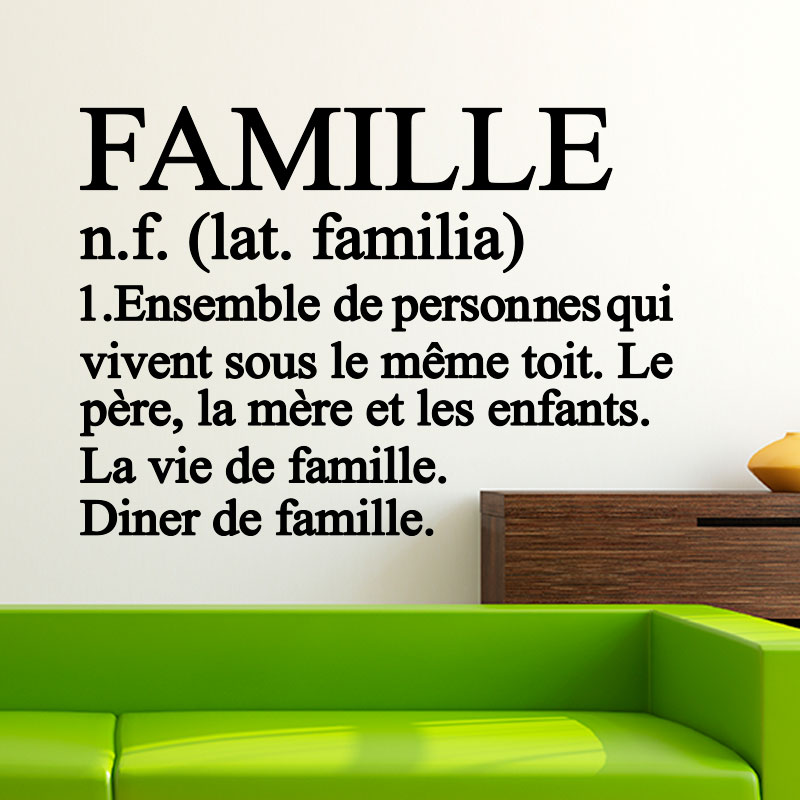 Sticker citation famille d finition stickers citations Stickers definition