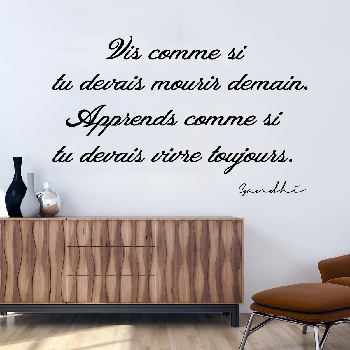 sticker citation gandhi vis et apprends stickers. Black Bedroom Furniture Sets. Home Design Ideas