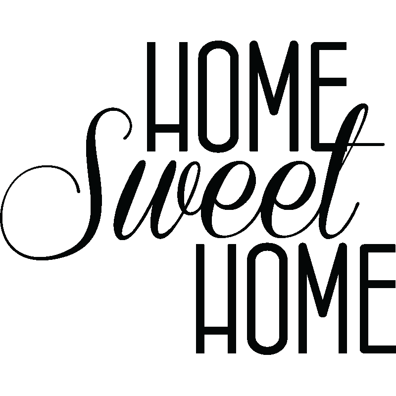 stickers muraux citations sticker home sweet home ambiance. Black Bedroom Furniture Sets. Home Design Ideas