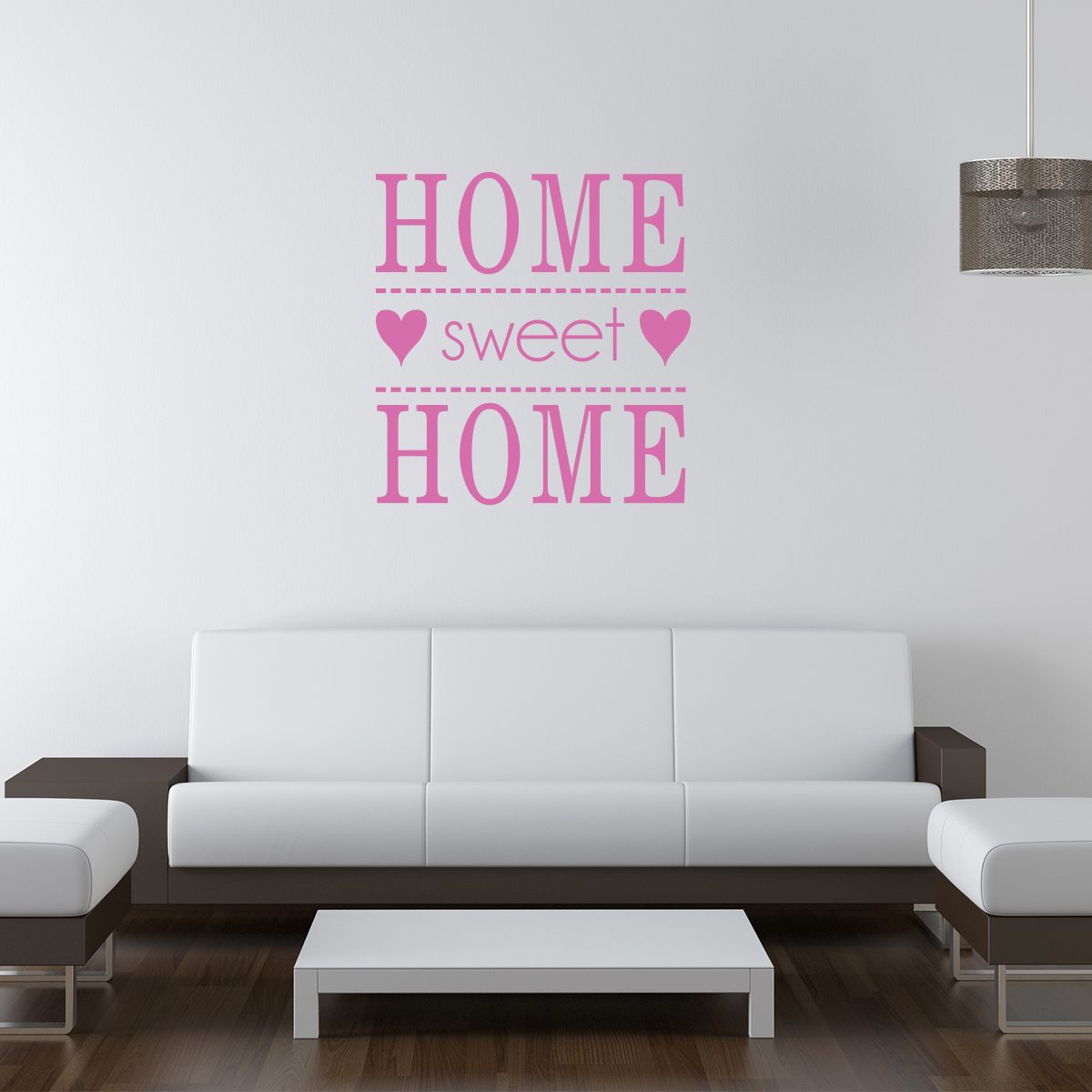stickers muraux citations sticker home sweet home. Black Bedroom Furniture Sets. Home Design Ideas