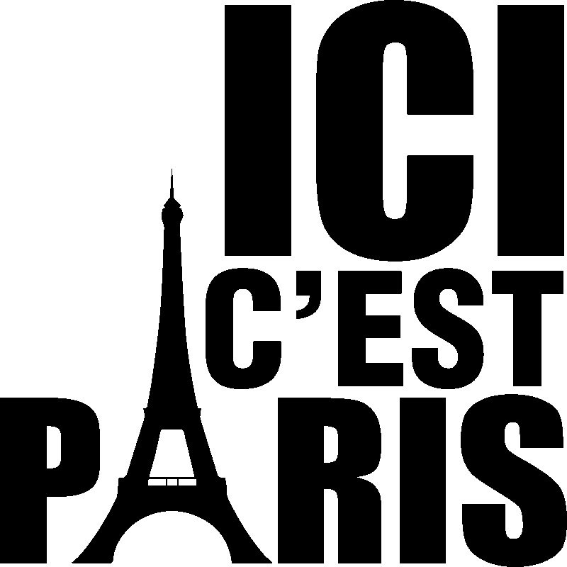 sticker citation ici c 39 est paris stickers villes et voyages ambiance sticker. Black Bedroom Furniture Sets. Home Design Ideas