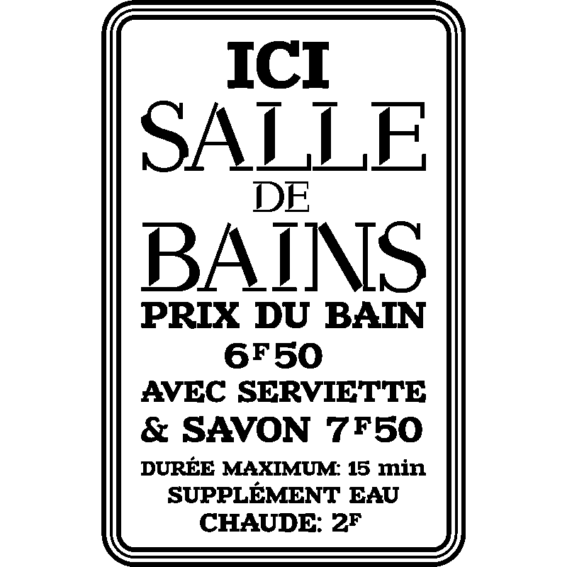 Sticker citation ici salle de bain stickers salle de for Citation salle de bain