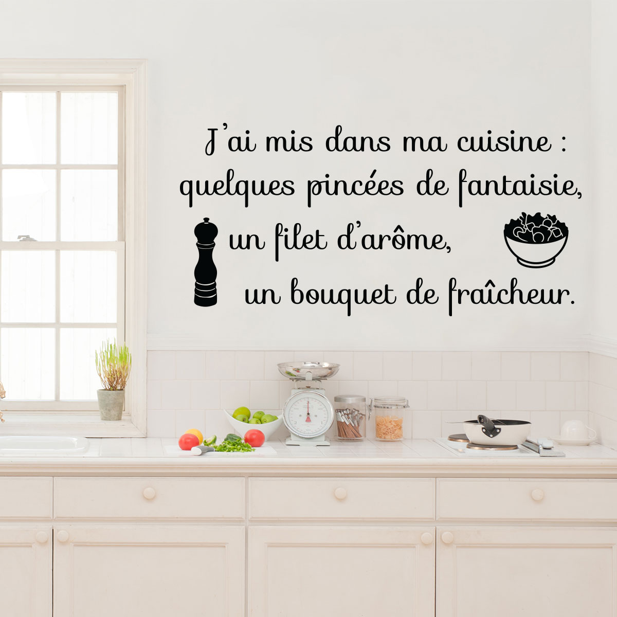 Sticker citation j 39 ai mis dans ma cuisine stickers for Asticots dans ma cuisine