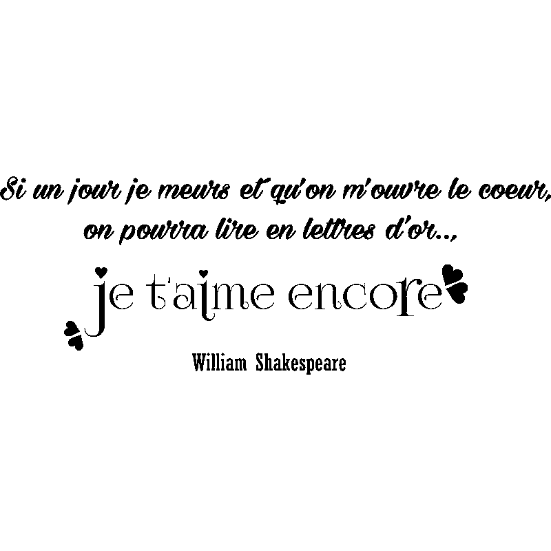 Sticker citation je t 39 aime encore william shakespeare - Shakespeare citation amour ...