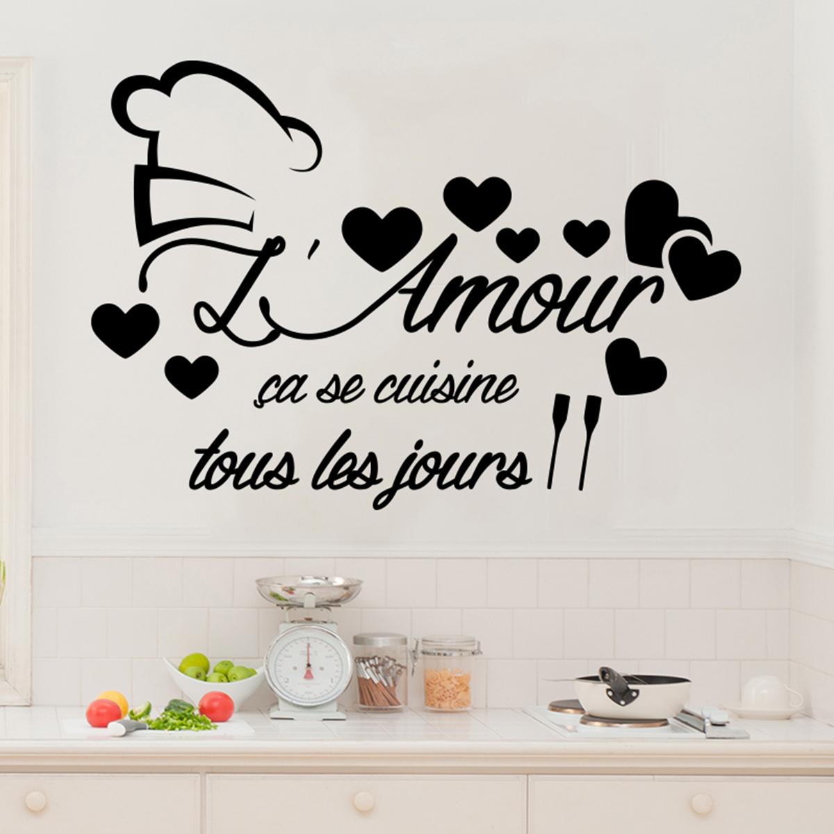 sticker citation l'amour ça se cuisine - stickers citations