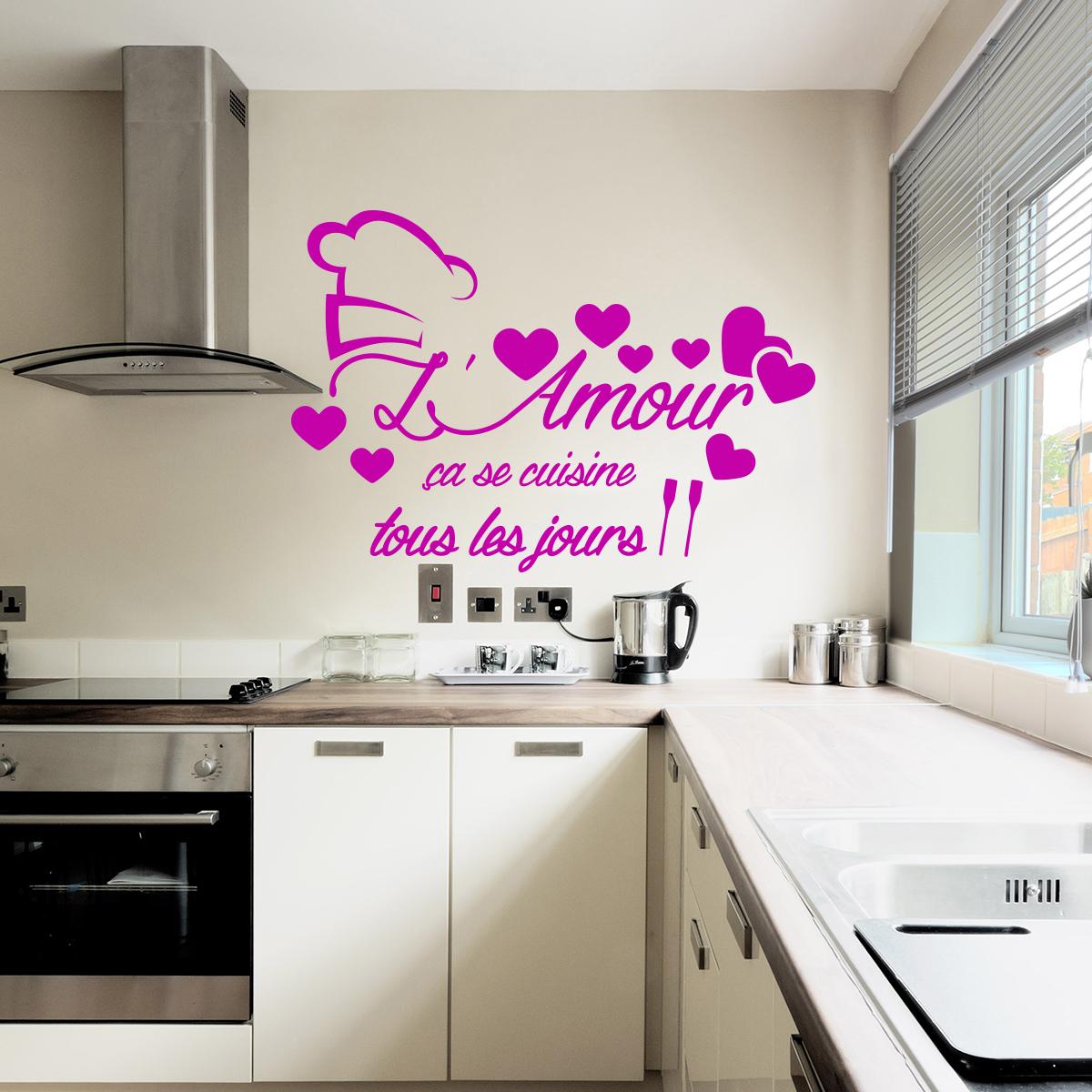 Sticker citation l 39 amour a se cuisine stickers - Stickers citations cuisine ...