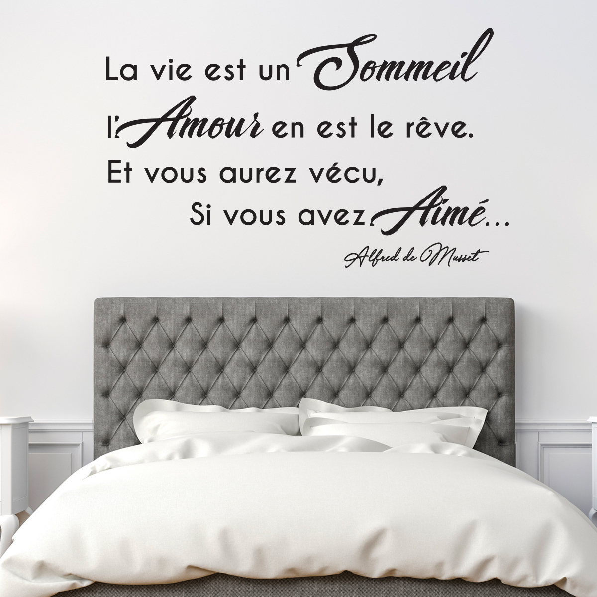 sticker citation l 39 amour est le r ve stickers citations. Black Bedroom Furniture Sets. Home Design Ideas