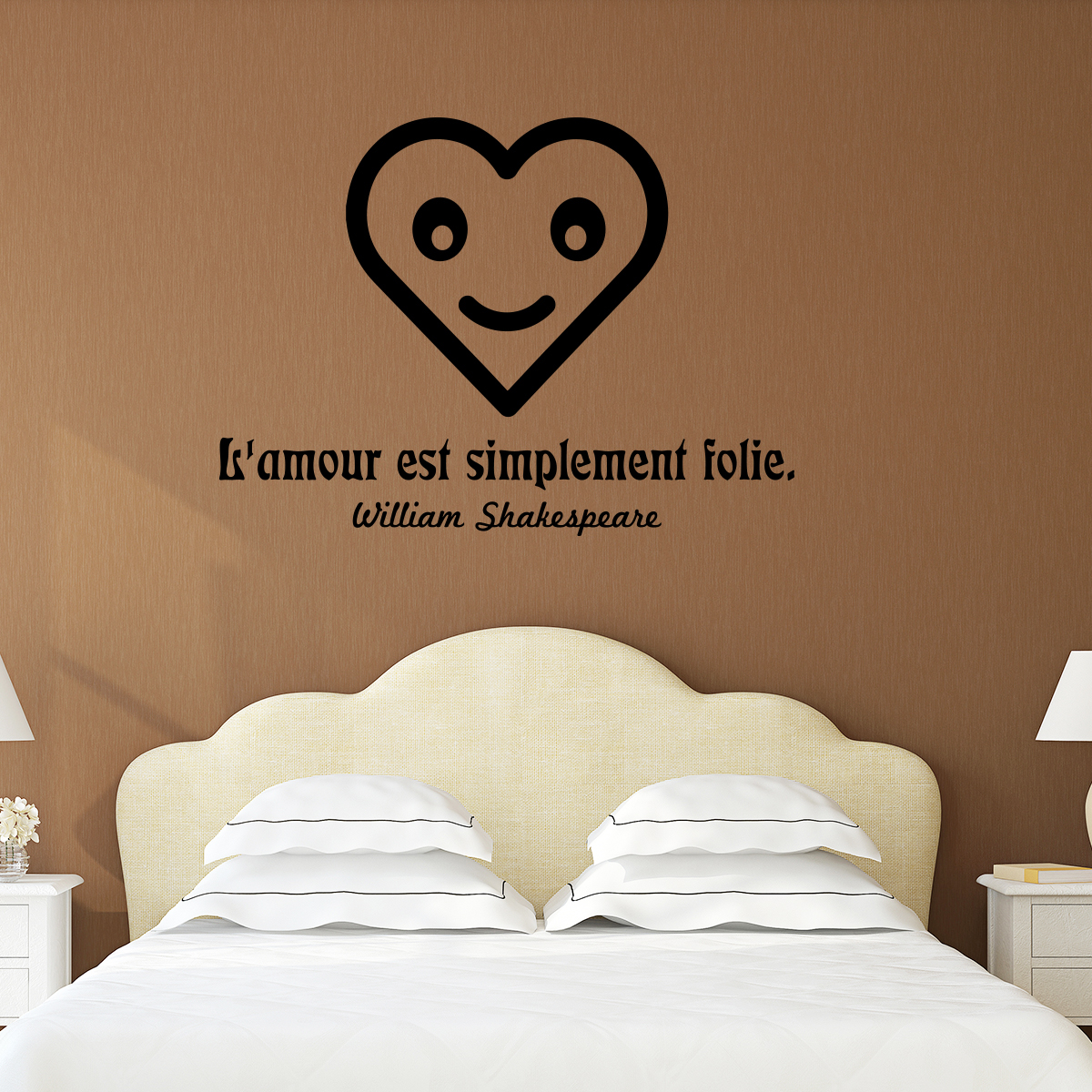 Sticker citation l 39 amour est simplement folie william - Shakespeare citation amour ...