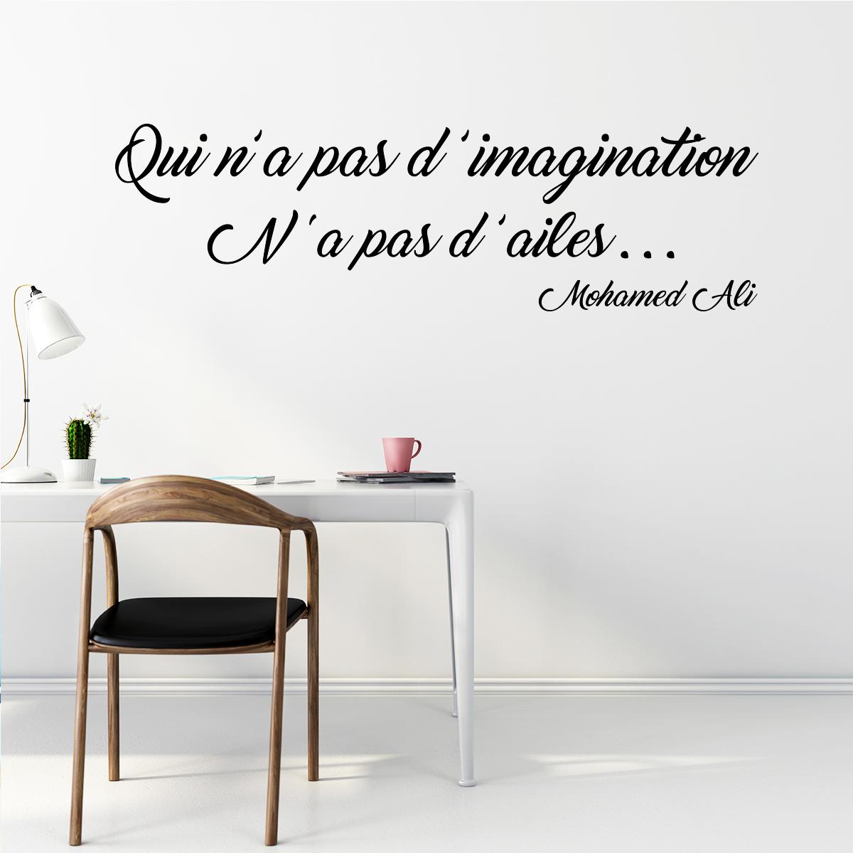 sticker citation l 39 imagination mohamed ali stickers. Black Bedroom Furniture Sets. Home Design Ideas
