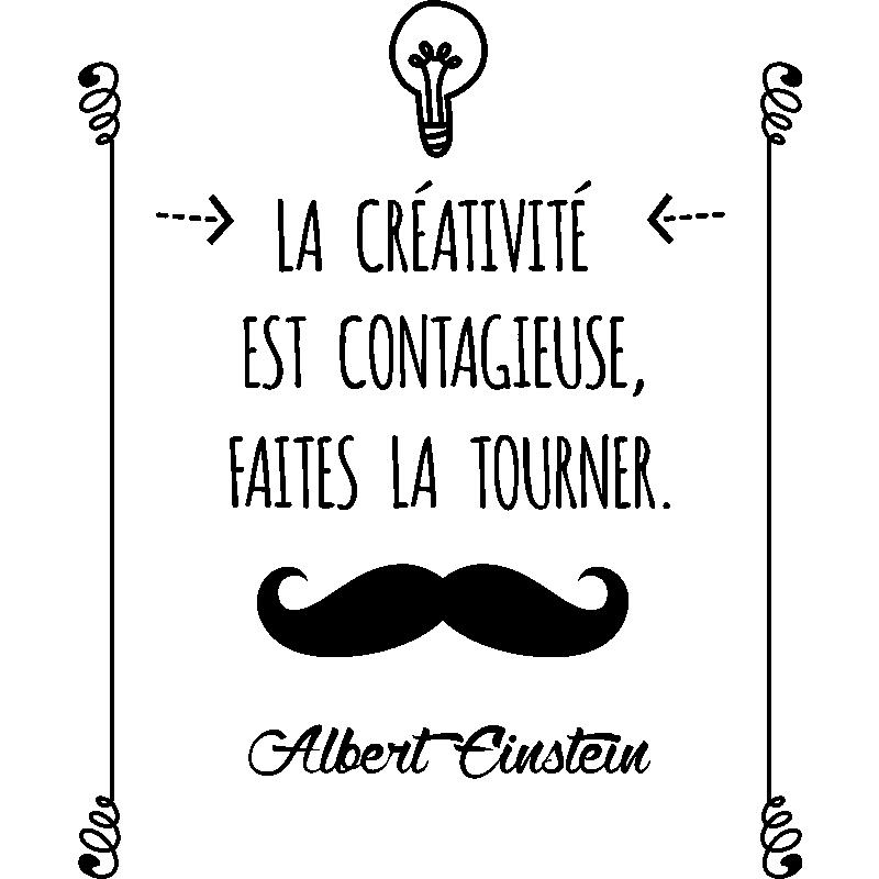 Bevorzugt Sticker citation La créativité est contagieuse  - Albert  EP46