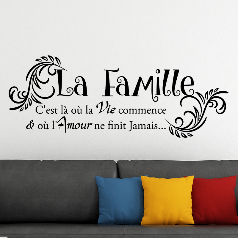 sticker mural citation francais kamos sticker. Black Bedroom Furniture Sets. Home Design Ideas