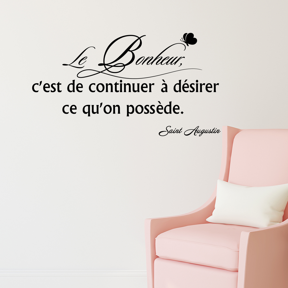 sticker citation le bonheur c 39 est de continuer stickers. Black Bedroom Furniture Sets. Home Design Ideas