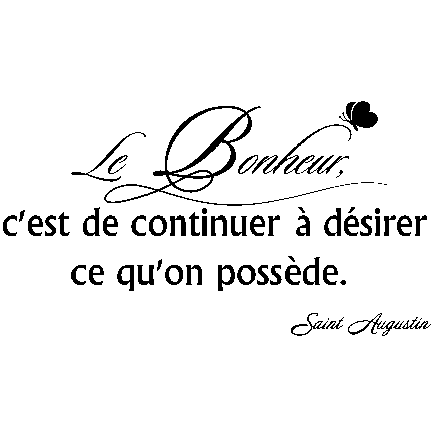 sticker citation le bonheur c 39 est de continuer stickers citations fran ais ambiance sticker. Black Bedroom Furniture Sets. Home Design Ideas