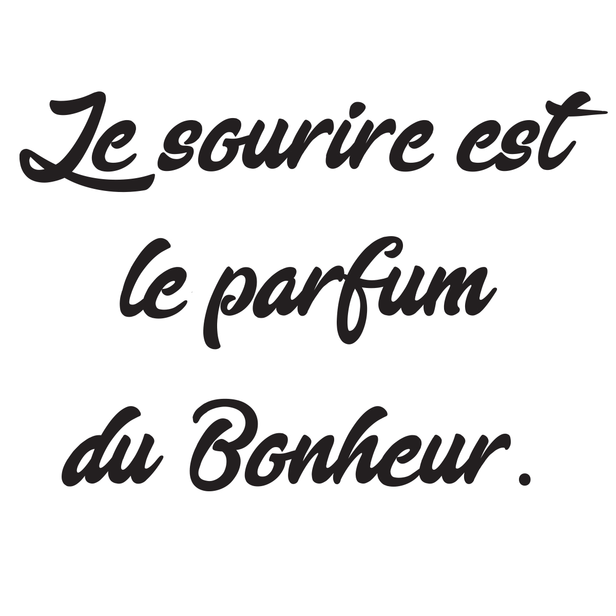 sticker citation le sourire est le parfum du bonheur stickers citations fran ais ambiance. Black Bedroom Furniture Sets. Home Design Ideas