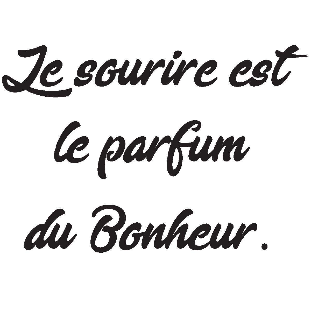 Sticker Citation Le Sourire Est Le Parfum Du Bonheur Stickers Citations Fran 231 Ais Ambiance