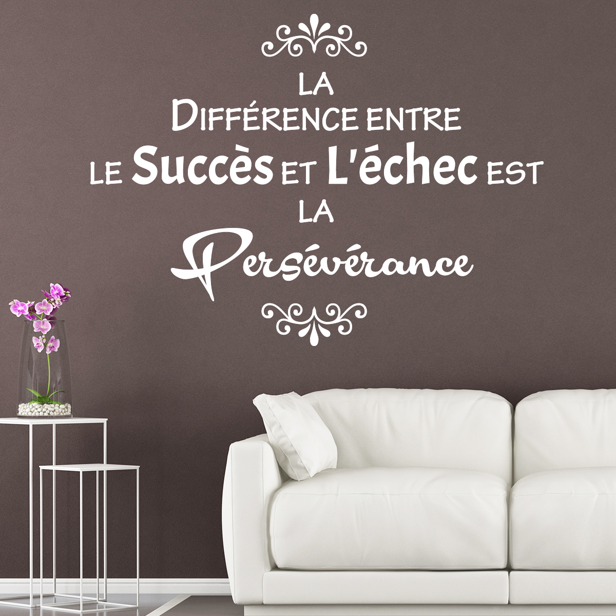 sticker citation le succ s et l 39 chec stickers. Black Bedroom Furniture Sets. Home Design Ideas