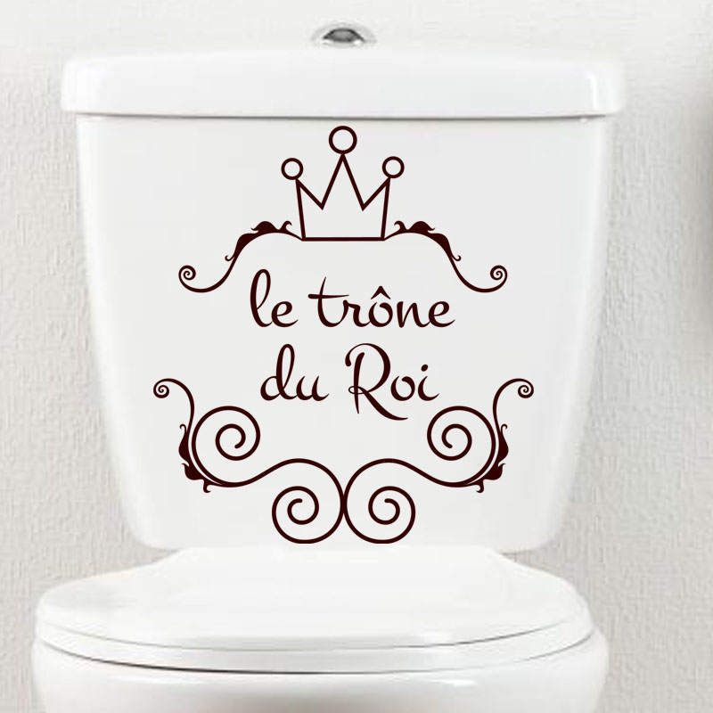 sticker citation le tr 244 ne du roi stickers toilettes porte ambiance sticker