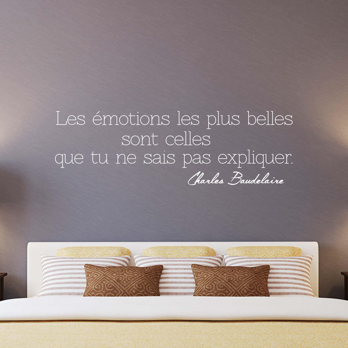 sticker citation les motions charles baudelaire. Black Bedroom Furniture Sets. Home Design Ideas