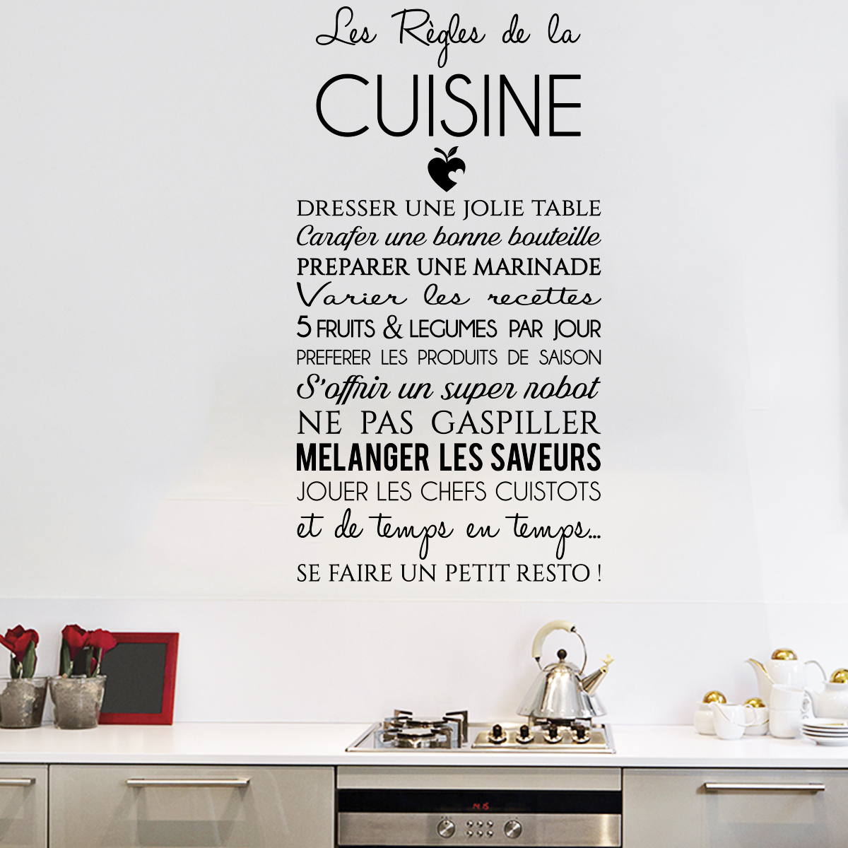 Sticker citation les r gles de la cuisine stickers for Proverbe cuisine humour