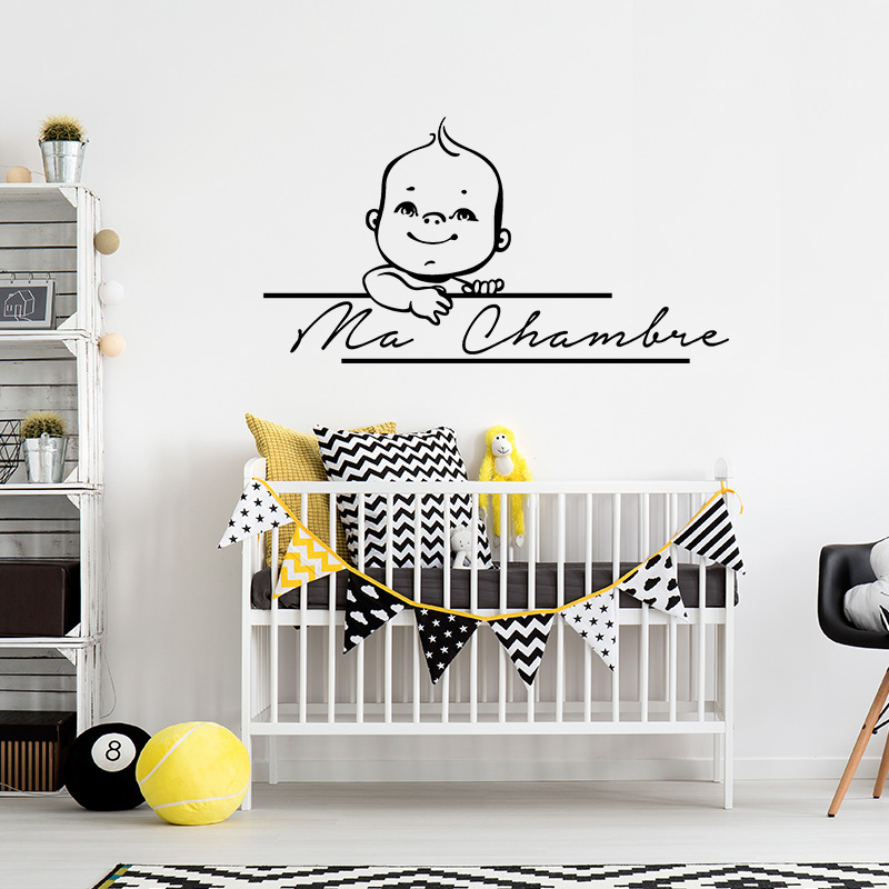 sticker citation ma chambre stickers citations fran ais ambiance sticker. Black Bedroom Furniture Sets. Home Design Ideas