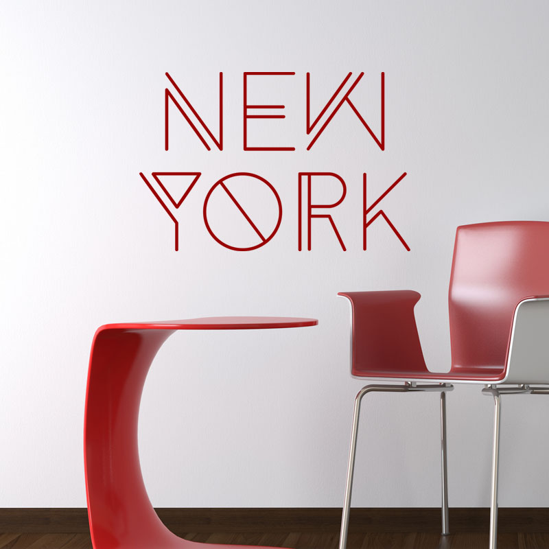 sticker citation new york stickers villes et voyages new york ambiance sticker. Black Bedroom Furniture Sets. Home Design Ideas