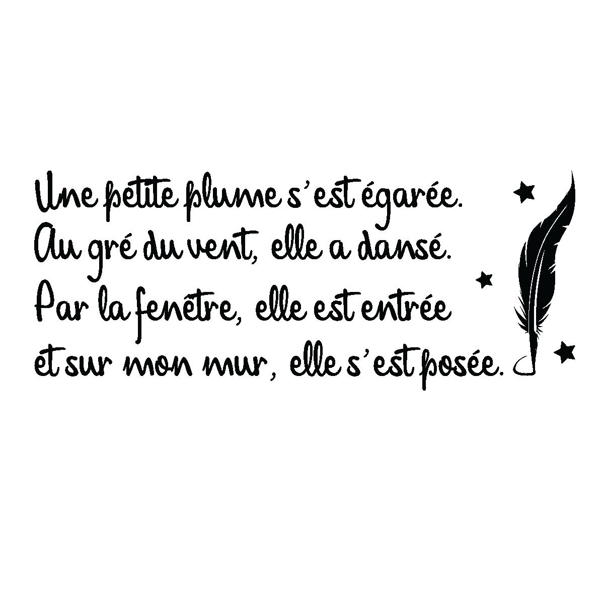 """"""" Le Petit Journal Quotidien """" Maria21 - Page 13 Sticker-citation-poesie-une-petite-plume-ambiance-sticker-AL_007"""