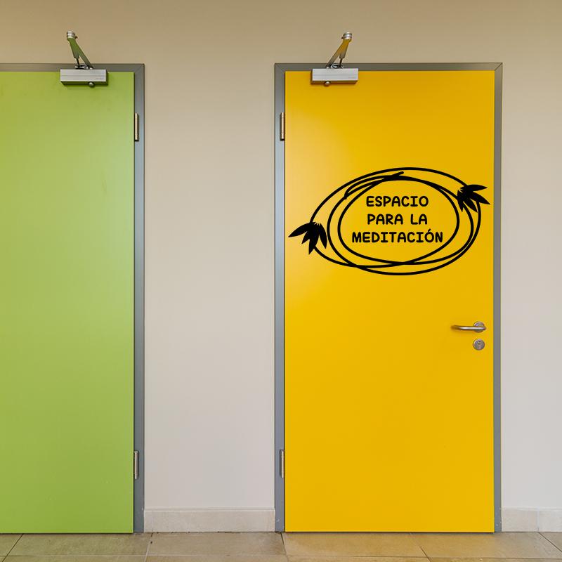 Sticker citation porte de toilette espacio par la for Stickers pour porte de toilette
