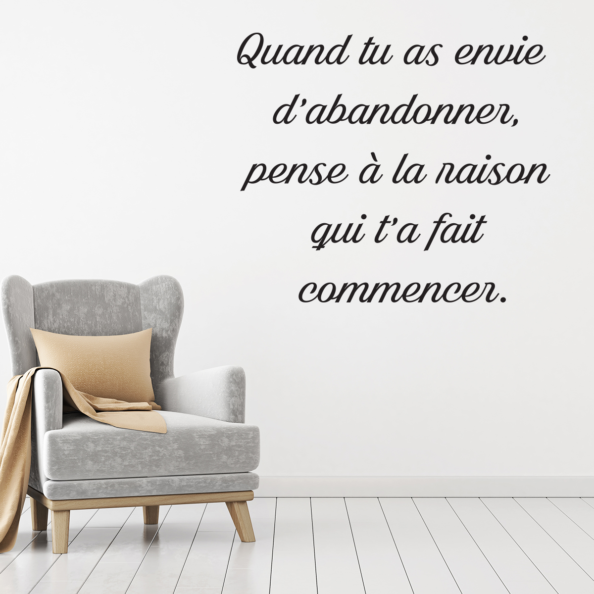 stickers muraux citations phrases citation u stickers. Black Bedroom Furniture Sets. Home Design Ideas