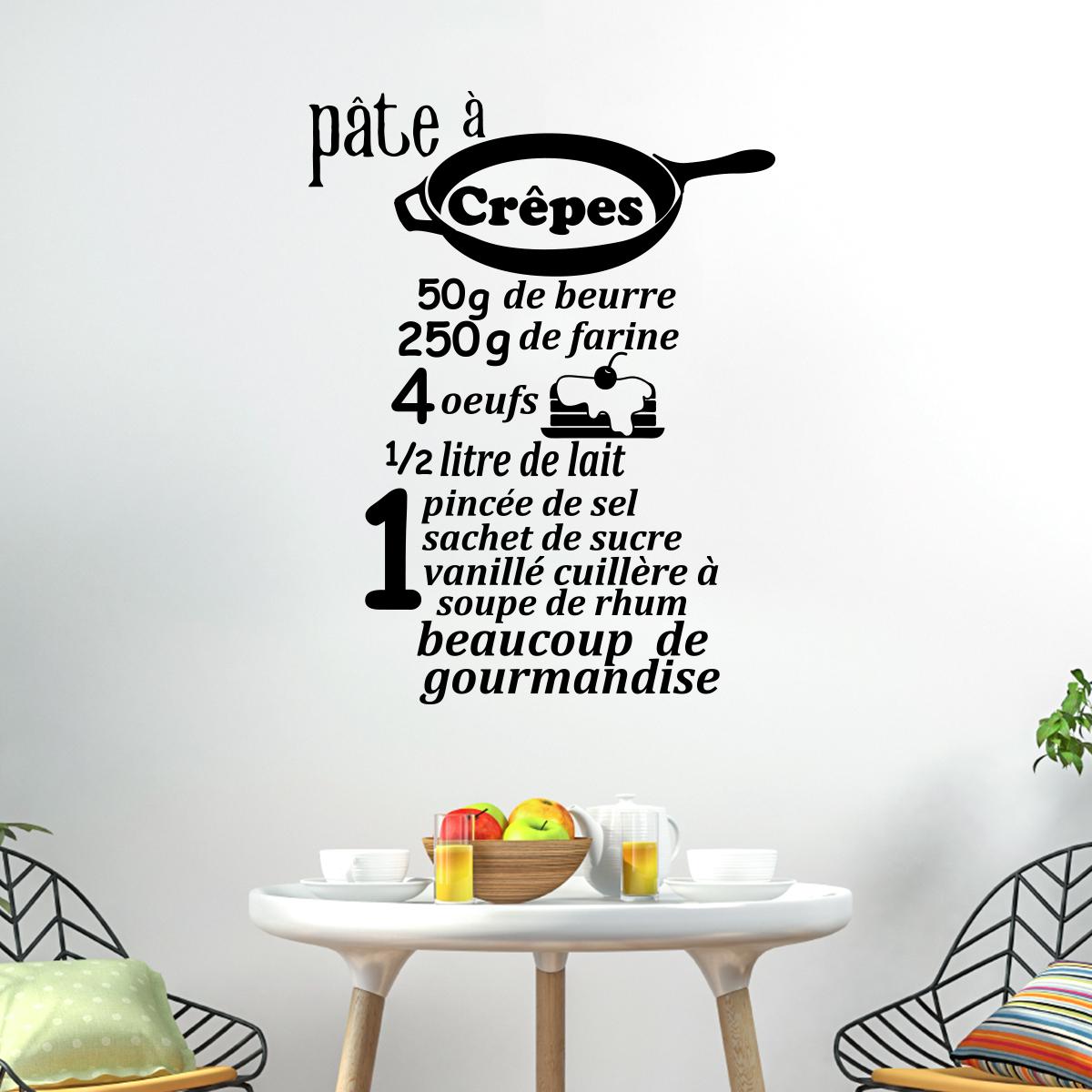 Stickers recette cuisine fashion designs - Stickers citations cuisine ...
