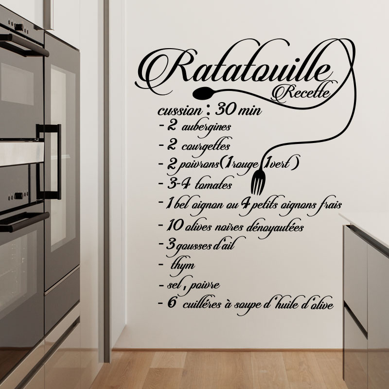 Sticker citation recette ratatouille stickers cuisine - Recette de cuisine pour l hiver ...