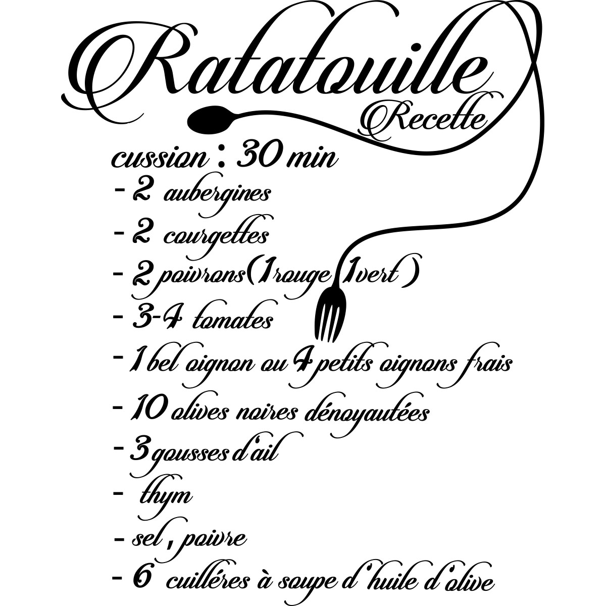 Sticker citation recette ratatouille stickers cuisine - Citation cuisine humour ...