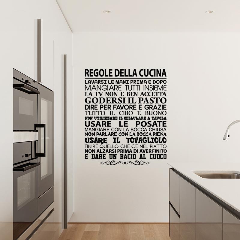 Sticker citation regole della cucina stickers citations - Stickers cucina ...