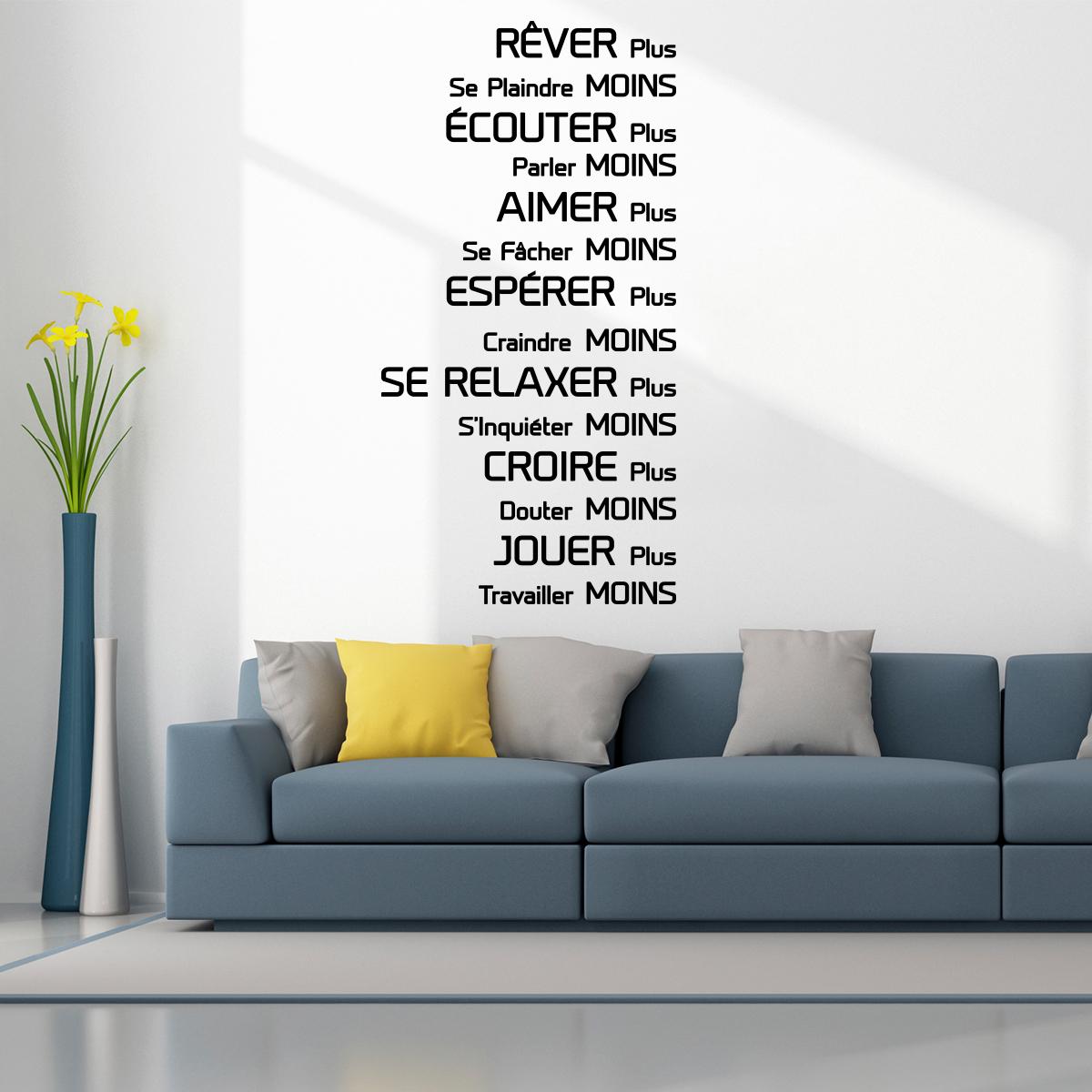 sticker citation r ver couter aimer esp rer stickers citations fran ais ambiance sticker. Black Bedroom Furniture Sets. Home Design Ideas