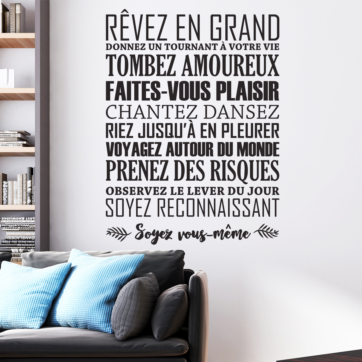 sticker citation r ver en grand stickers citations fran ais ambiance sticker. Black Bedroom Furniture Sets. Home Design Ideas