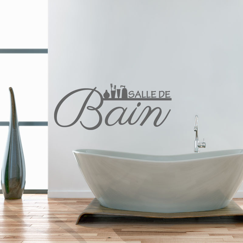 Sticker citation salle de bain stickers citations for Deco salle de bain murale