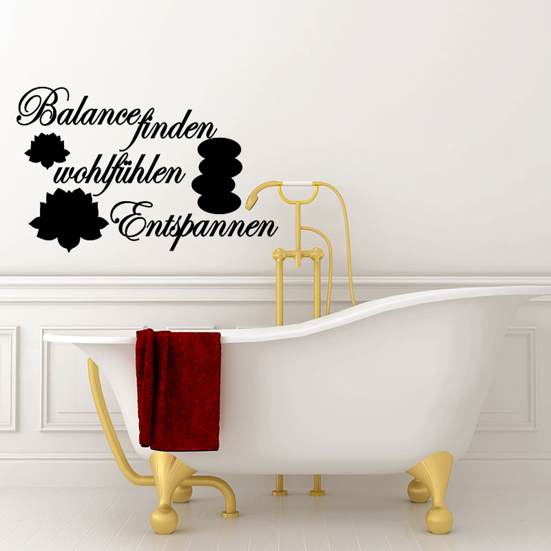 sticker citation salle de bain balance finden wohltf hlen stickers citations allemand. Black Bedroom Furniture Sets. Home Design Ideas