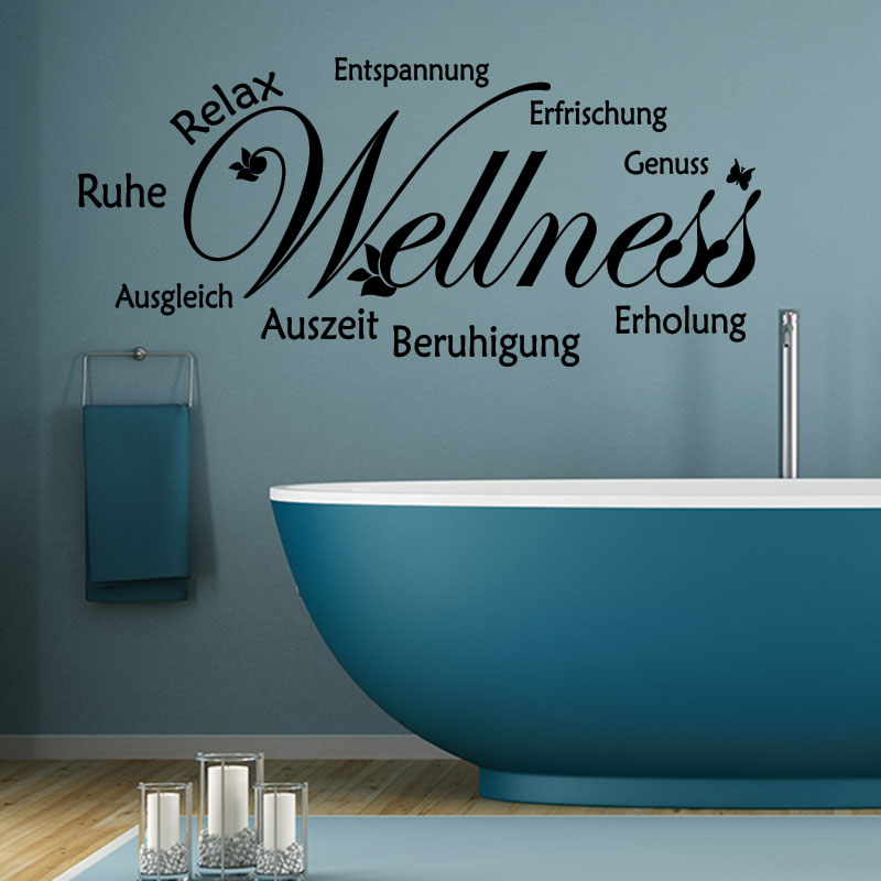 Sticker citation salle de bain ruhe relax entspannung for Citation salle de bain