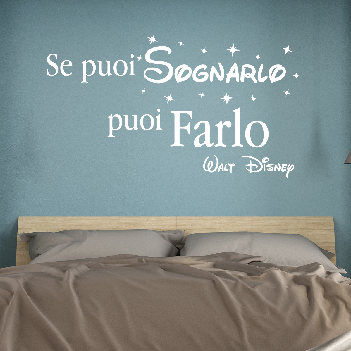sticker citation se puoi sognarlo puoi farlo walt disney stickers citations italien. Black Bedroom Furniture Sets. Home Design Ideas