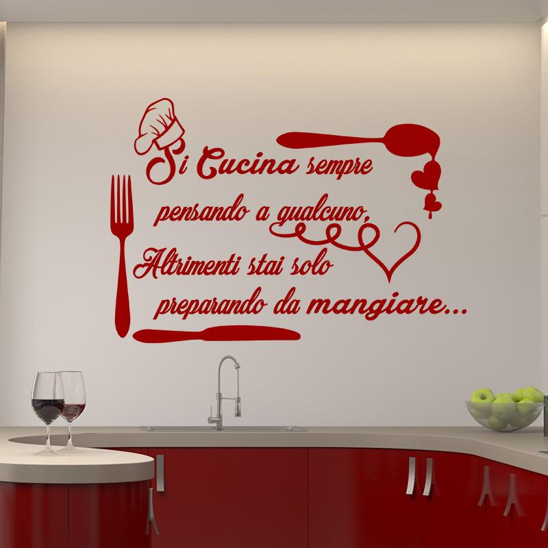 Sticker citation si cucina sempre stickers cuisine for Stickers cuisine citation