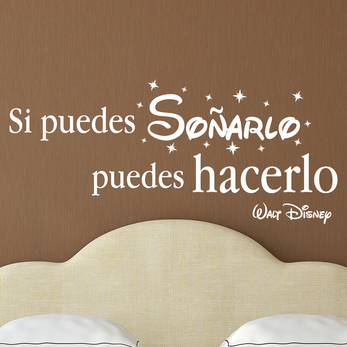 sticker citation si puedes so arlo walt disney stickers citations espagnol ambiance sticker. Black Bedroom Furniture Sets. Home Design Ideas