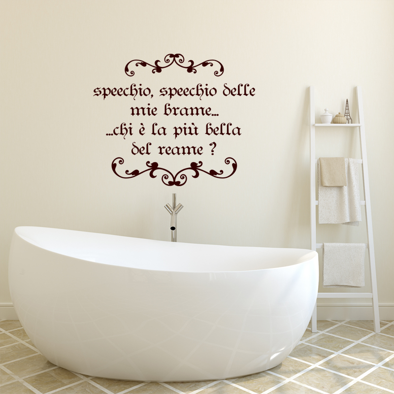 Sticker citation speechio belle mie brame stickers for Stickers carrelage salle de bain