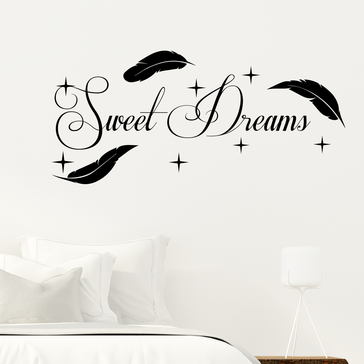 sticker citation sweet dreams stickers citations anglais. Black Bedroom Furniture Sets. Home Design Ideas