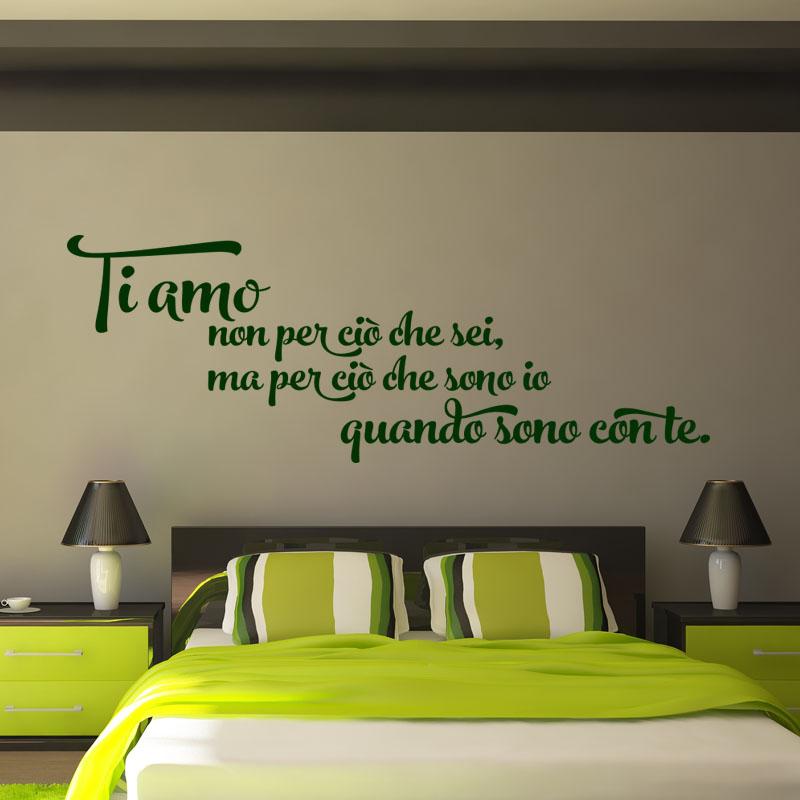 sticker citation ti amo per cio che sono con te stickers chambre amour ambiance sticker. Black Bedroom Furniture Sets. Home Design Ideas