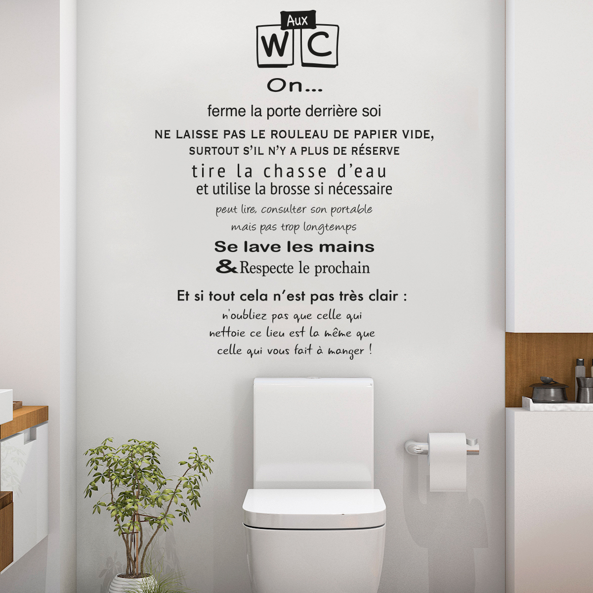 Stickers pour toilettes humour 28 images 25 best ideas for Salle de bain design avec décoration murale stickers muraux autocollants