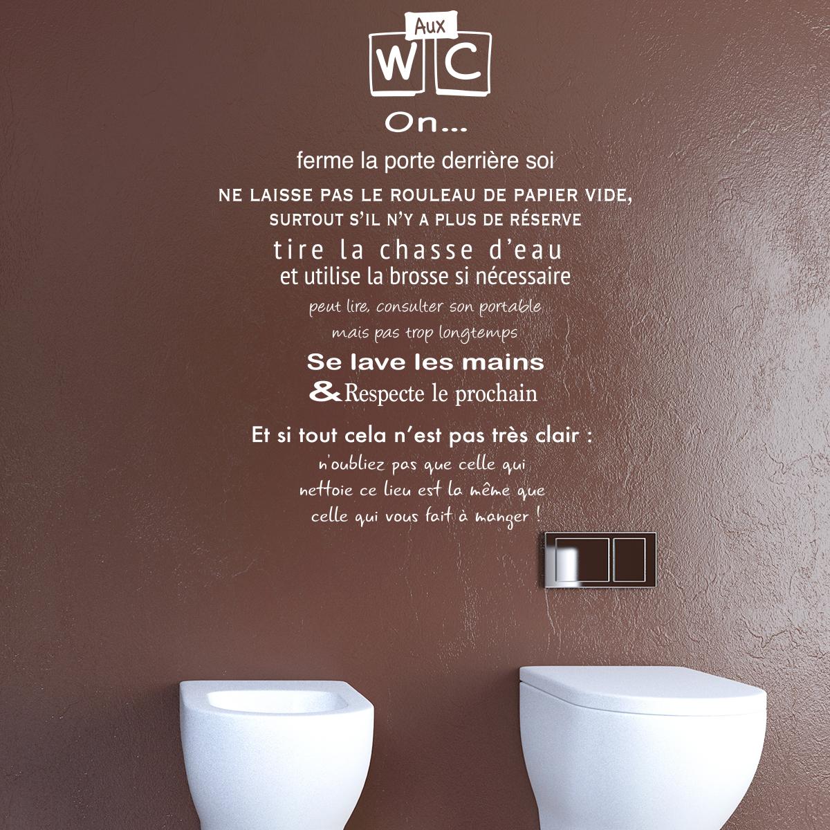 Stickers Citation Wc Gallery Of Sticker Pour Les Wc Cadre