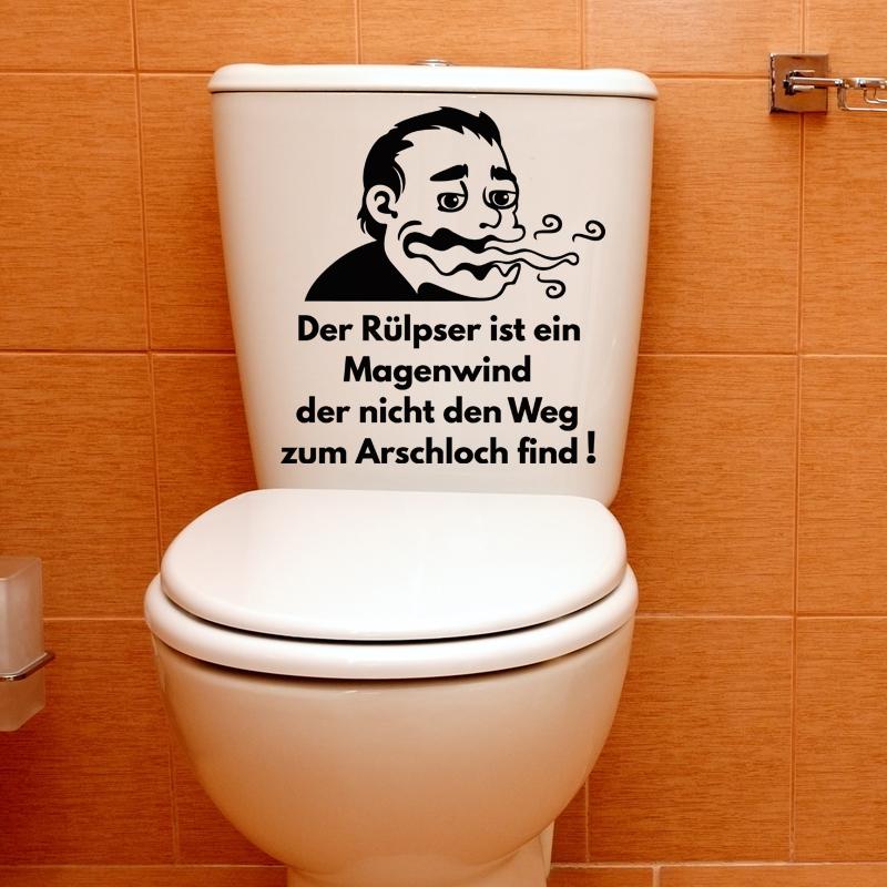 sticker citation wc der r lpser ist ein magenwind stickers citations allemand ambiance sticker. Black Bedroom Furniture Sets. Home Design Ideas