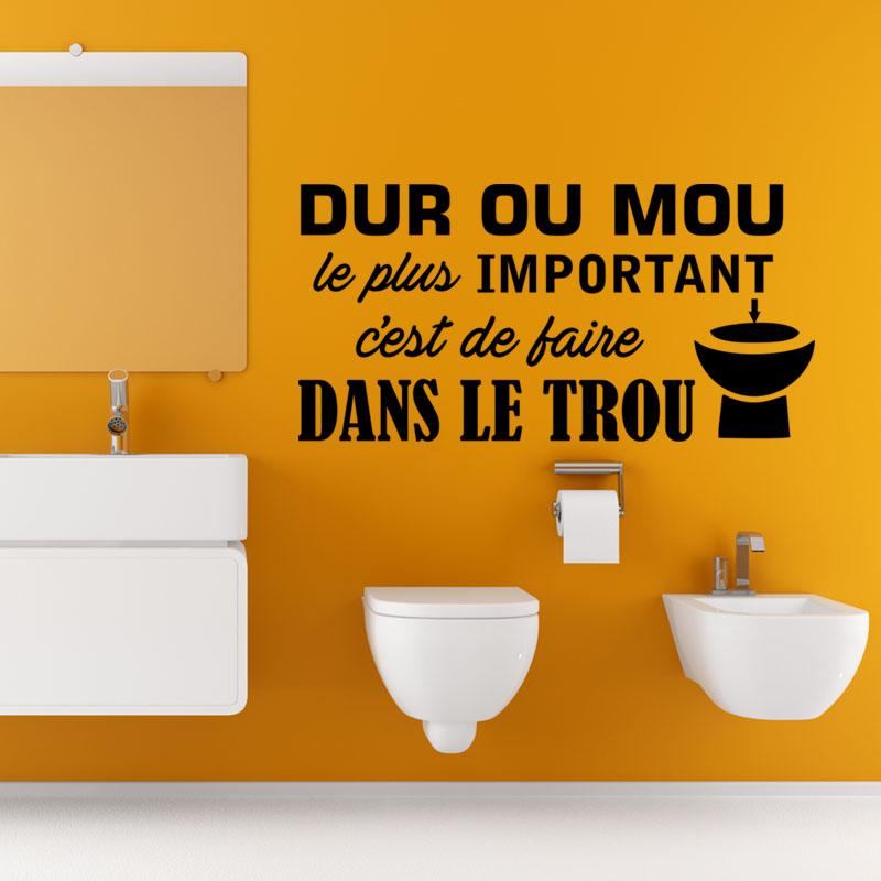 Pochoir citation wc id e inspirante pour la for Sticker exterieur