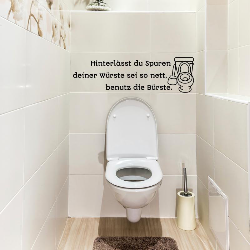 Sticker Citation Wc Hinterl Sst Du Spuren Deiner W Rste