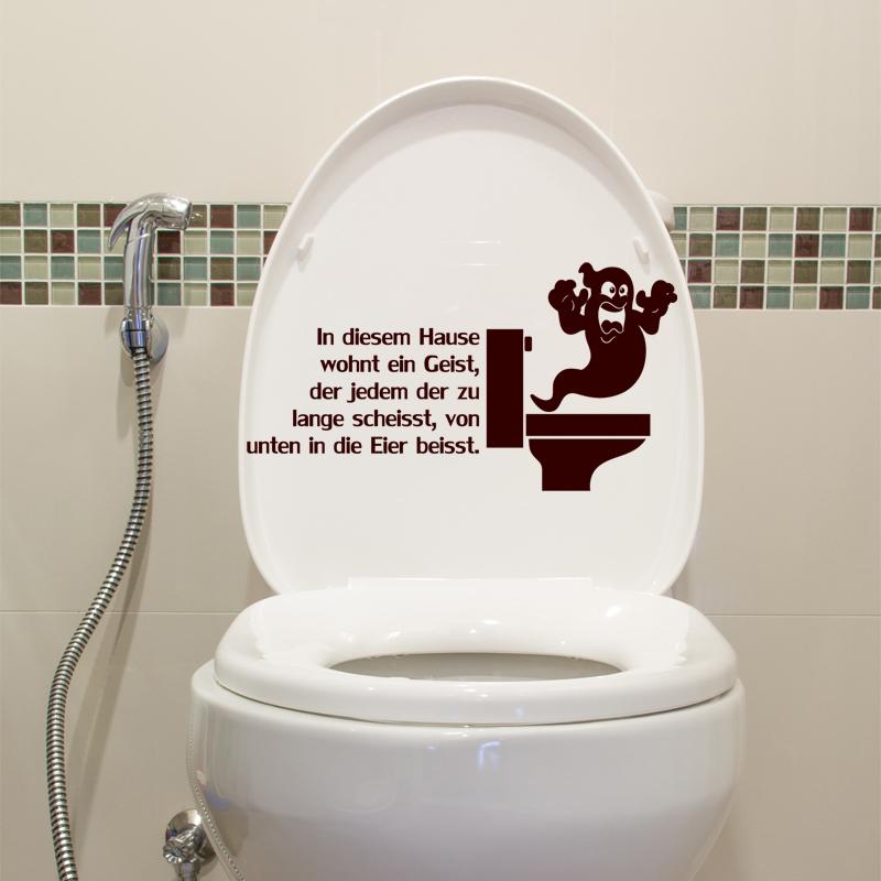 Sticker Citation Wc In Diesem Hause Wohnt Ein Geist